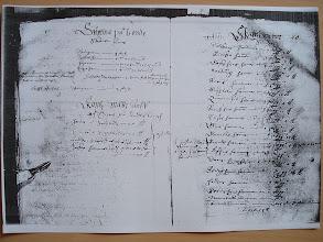 """Photo: (2)21.1606-10,hft 1,s 20-43 [CD 3090-91] Årl räntan 1607 (""""Schatte Nÿbyggare + hwar skall utgöre /eller stadgas för/ stångeiern - 1 skeph årlig:n. + Ähre finnar och torpare äär bÿgde Nordann före Saleboda, Hertig Johans arff och egit"""")"""