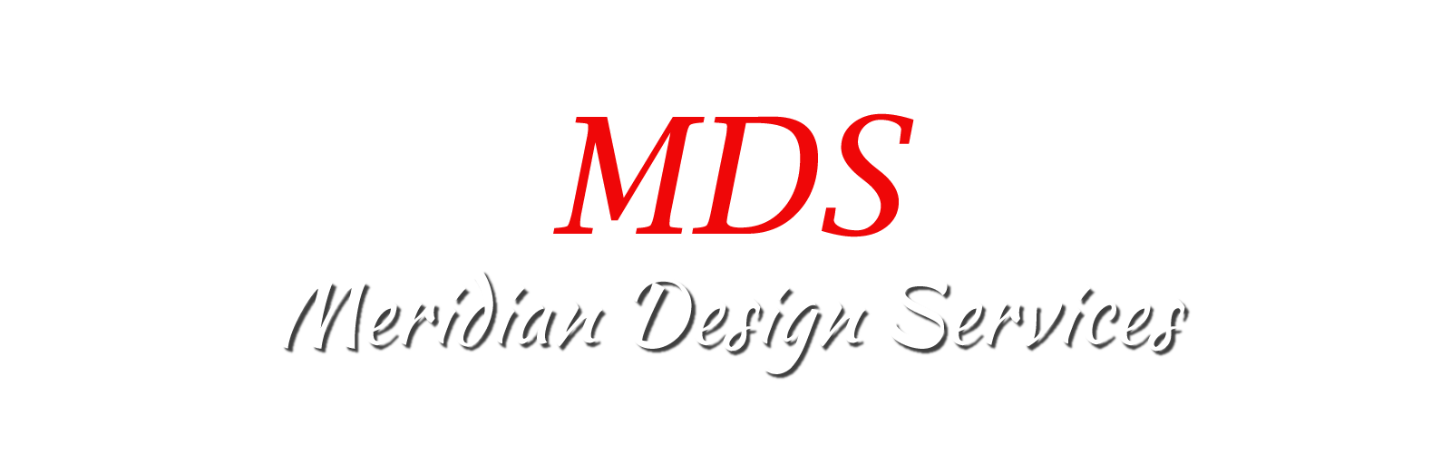 Logo with writing of Meridian Design Services