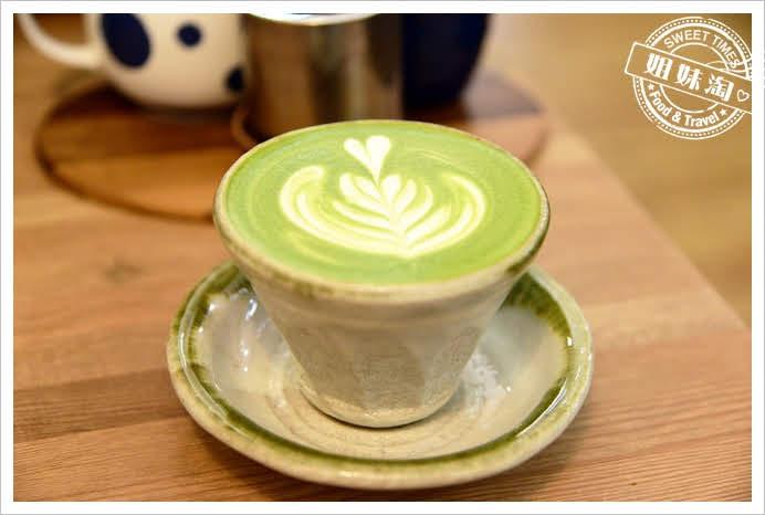 木白甜點咖啡店宇治抹茶拿鐵