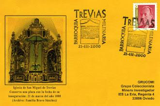 Photo: Tarjeta del matasellos del milenario de San Miguel de Trevías