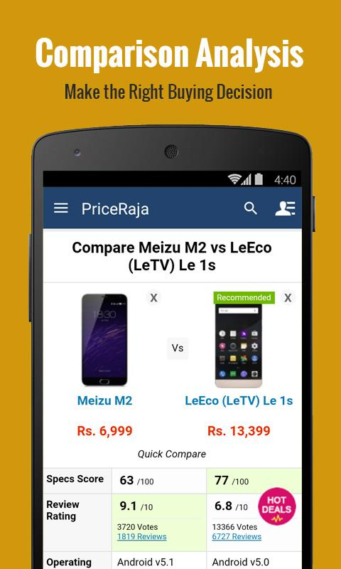 Mobile Price Comparison App- screenshot