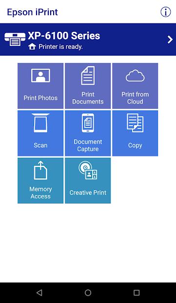 Epson iPrint Android App Screenshot