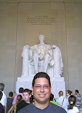 Photo: Mr. Rojas at Lincoln's memorial in DC 2010