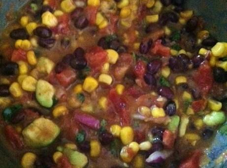Add the chopped Cilantro,and chopped onion, lime juice,honey Cayenne pepper,salt,and olive oil. Stir to...