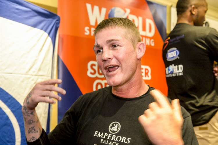 Thomas Oosthuizen during the Emperors Palace, SuperSport and Golden Gloves announcement of the SuperSport/Emperors Palace Three Tournament Festival of Boxing at Lucretia Room, Emperors Palace at June 11, 2018 in Johannesburg, South Africa.