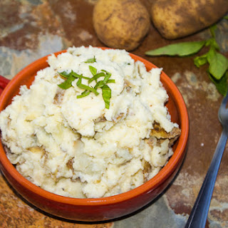 Parmesan Basil Mashed Potatoes.