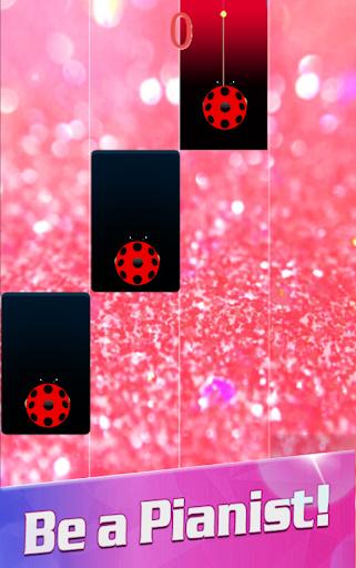Piano Ladybug Noir Tiles 7 screenshots 2