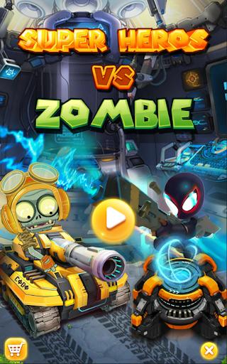 Super Heroes vs Zombie