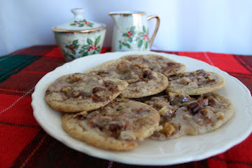 Glazed Caramel Apple Pecan Pinwheel Cookies Recipe