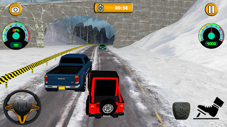 Offroad Jeep - Extreme Mountain Snow Driving APK screenshot thumbnail 4