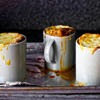 Roasted Tomato Soup with Broiled Cheddar