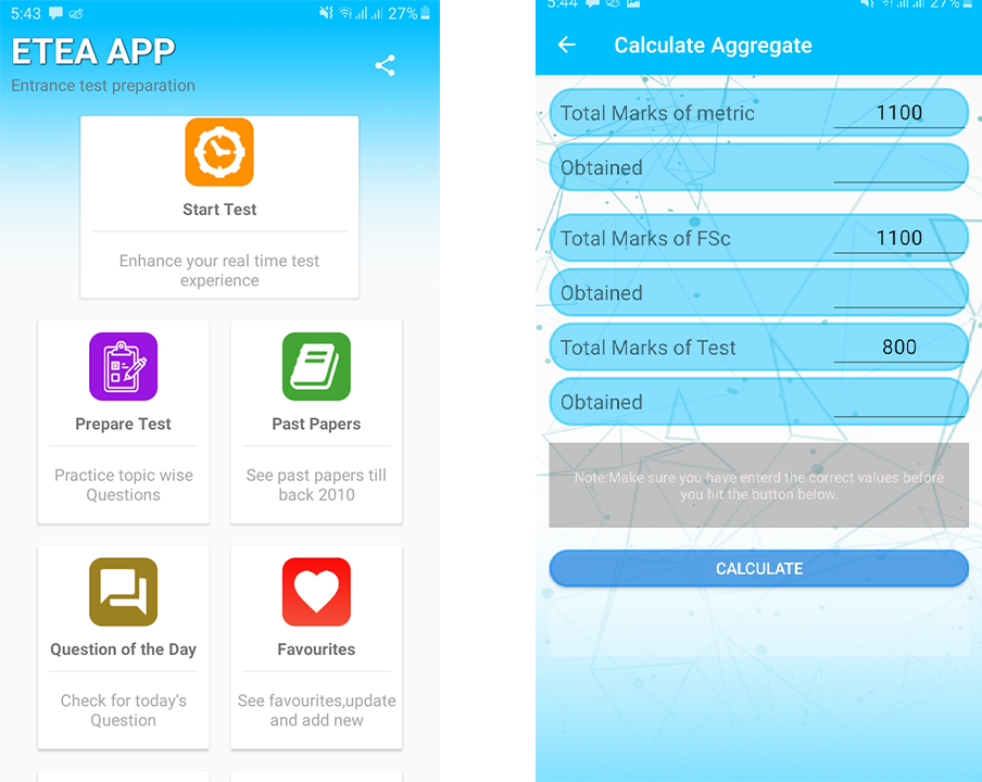 ETEA App || MCQS and Past Papers – (Android Apps) — AppAgg