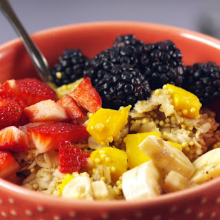 Mango and Millet Oatmeal.