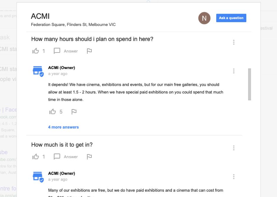 Google My Business - Q&A