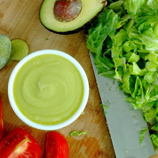 Paleo Avocado & Bacon Salad Dressing.
