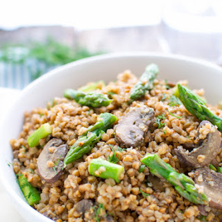 Buckwheat With Mushrooms And Asparagus