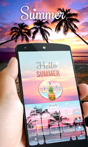 Summer GO Keyboard Theme|玩個人化App免費|玩APPs