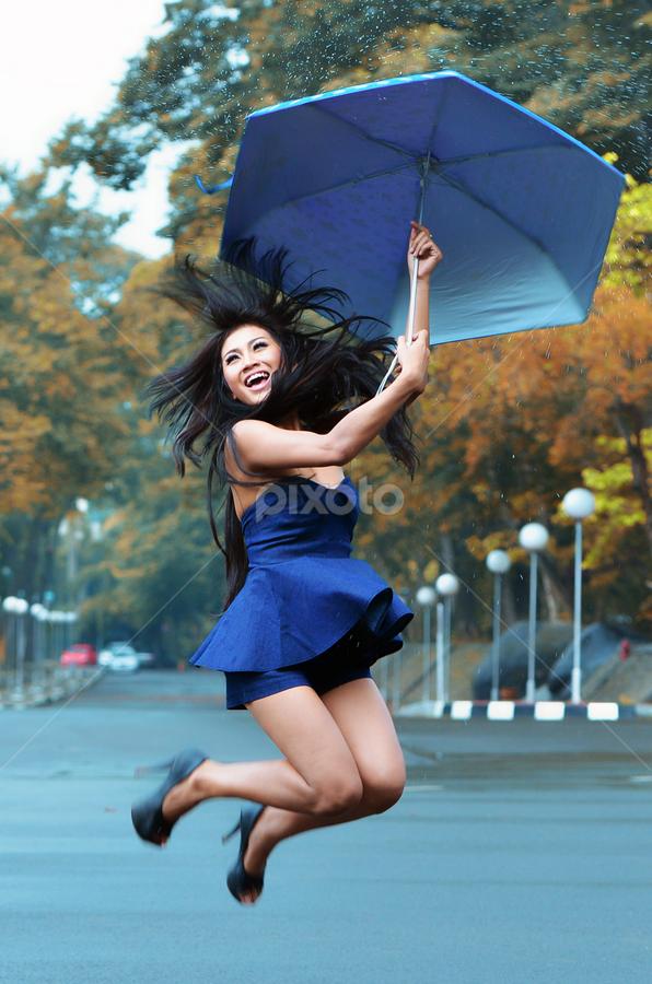 Umbrella Girls by Doeh Namaku - People Portraits of Women