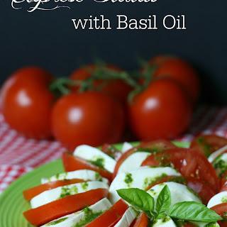 Caprese Salad with Basil Oil.