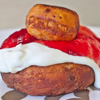 Donuts with Sour Cream and Saskatoon Jam Recipe