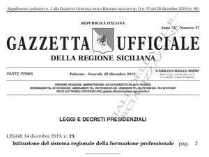 Gazzetta Ufficiale Regione Sicilia