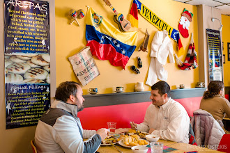 Photo: happy customers @La Taguara Venezuelan restaurant ____________ photographed for Madison Magazine February 2015 issue All images © by Paulius Musteikis Photography  http://www.pauliusmusteikisphoto.com/professional-food-photographer-madison-wi/