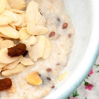 Sugar Free Almond & Sultana Breakfast Oatmeal Recipe