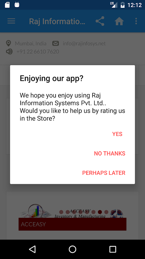 Raj Information Systems- screenshot