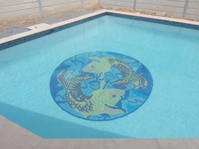 Koi Fish Mosaic Art by Mozaico