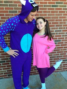 Boo and Sully from Monsteru0027s Inc  sc 1 st  Her C&us & 22 Couple Costumes for You and Your Boo...or BFF | Her Campus