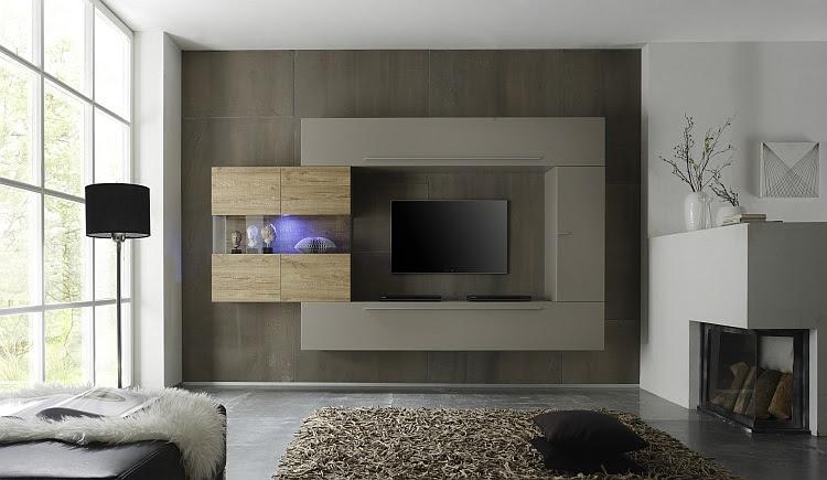 soggiorno moderno bali 2, parete porta tv di design, mobile beige ... - Soggiorno Wenge Moderno 2