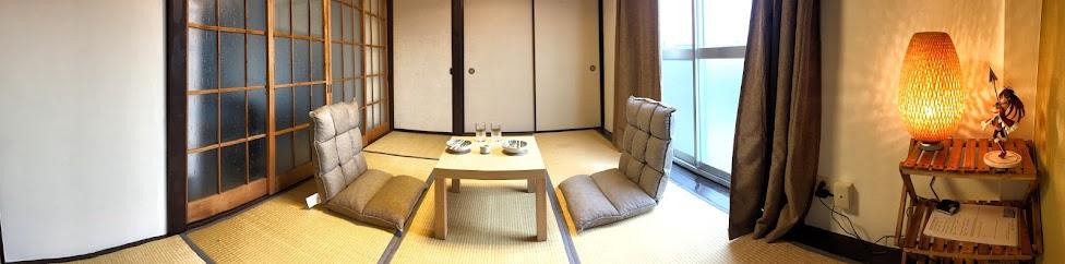 Typowe japońskie mieszkanie, salon - Tokio, Japonia