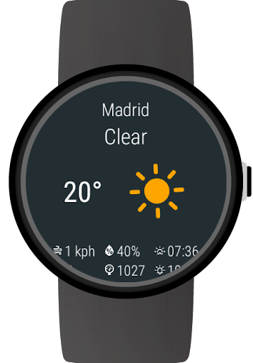 Weather for Wear OS (Android Wear) 1.0.190312 screenshots 1