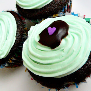 Mint Chocolate Vegan Cupcakes.