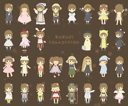 Photo: Una strepitosa raffigurazione di tutti gli abiti indossati da Kokori durante l'avventura! Riuscite a ricordarveli tutti?