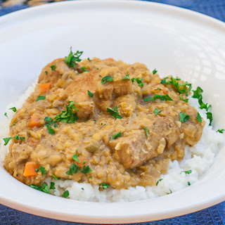 Indian Style Lentils with Pork Tenderloin