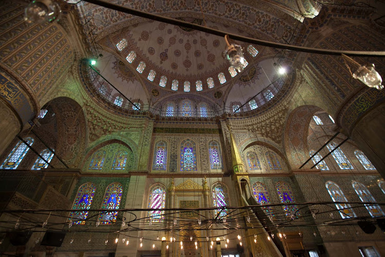 The spectacular Blue Mosque, built from 1609 to 1616, during the rule of Ahmed I.