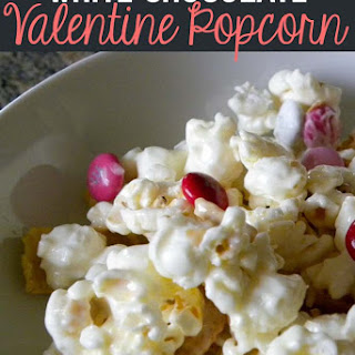 White Chocolate Valentine Popcorn