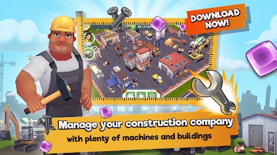 Construction Hero MOD APK 1.0.542 [Unlimited Diamonds + Cash] 1