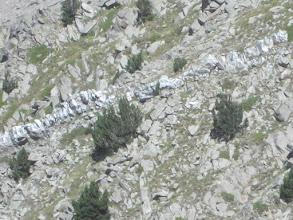 Photo: Une veine de Quartz blanche immaculée afleure sous le Roc del Boc