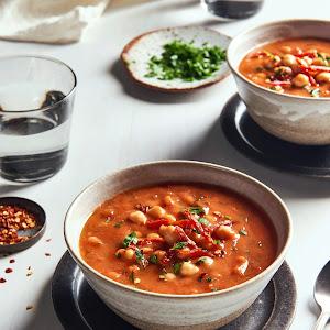 Smokey Tomato Soup with Chickpeas