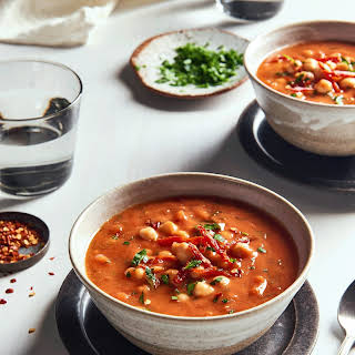 Smokey Tomato Soup with Chickpeas.