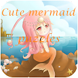 Cute mermaid puzzles icon