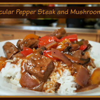 Spectacular Pepper Steak and Mushroom Gravy.