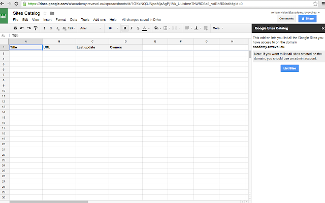 google sites how to add table of contents