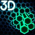 Neon Cells Particles 3D Live Wallpaper icon