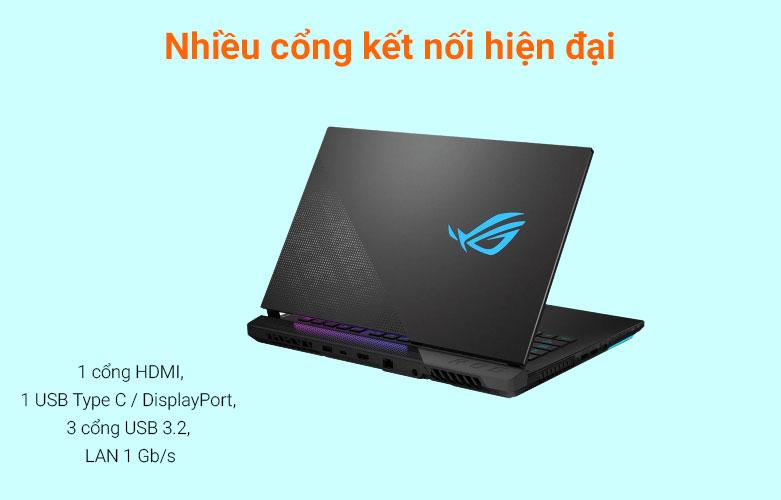 Laptop Asus ROG Strix Scar 15 G533QM-HF089T | Nhiều cổng kết nối hiện đại