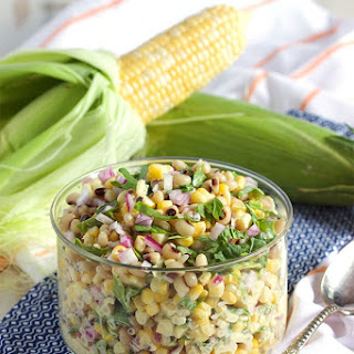 Black-Eyed Pea and Corn Salad with Spinach Recipe