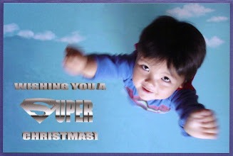 Photo: 2006 -- Superman Returned! And so did our Halloween costume-based Xmas cards.