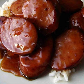 Slow Cooker Barbecued Sausage Pieces